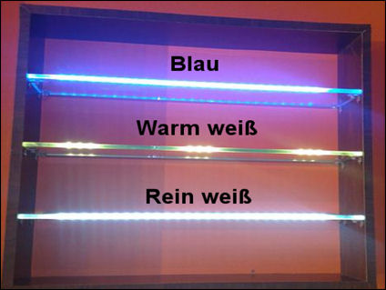 led clip glaskantenbeleuchtung glasbodenbeleuchtung ebay. Black Bedroom Furniture Sets. Home Design Ideas