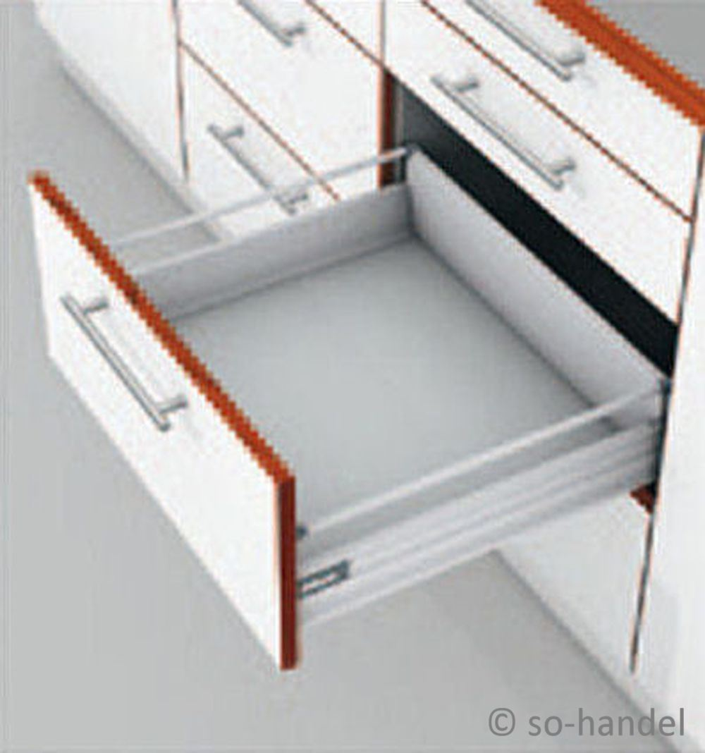 set blum tandembox auszugsystem schubkasten 500mm grau ebay. Black Bedroom Furniture Sets. Home Design Ideas